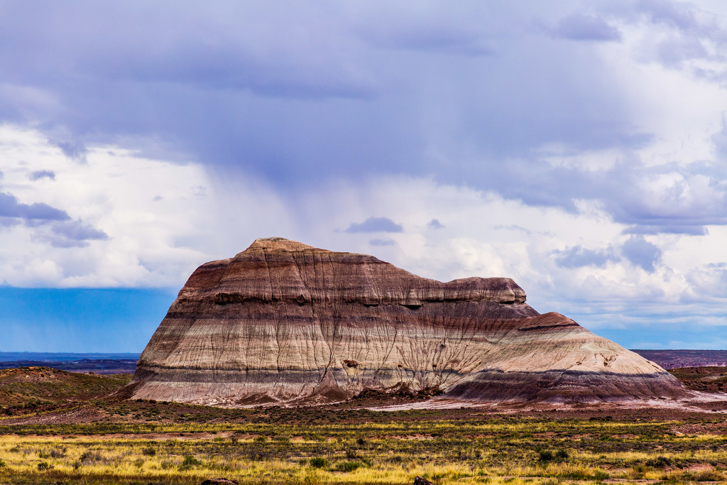 Rain Falls on the Painted Desert by photograndma