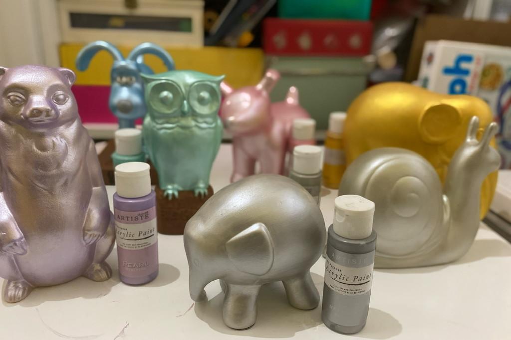 """""""Wild in Art"""" ornaments in progress  by bizziebeeme"""