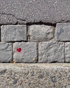 1st Feb 2020 - Tiny red heart on cobbled street.