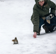 27th Jan 2020 - Feeding the squirrels