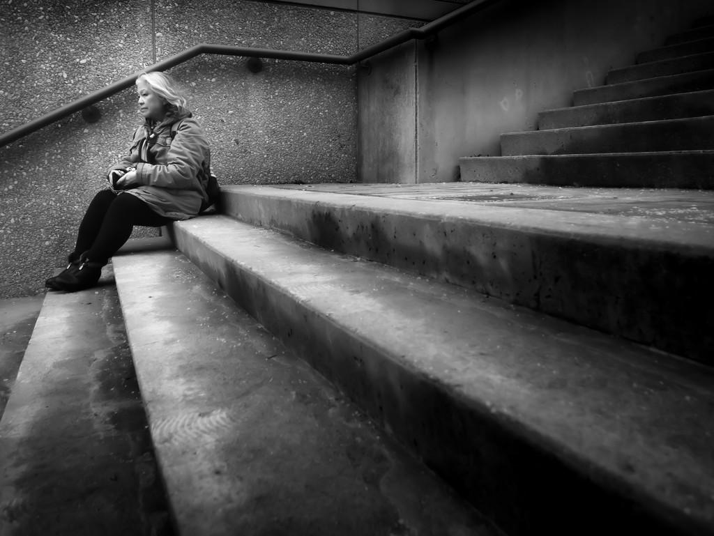Vikki on the steps by northy
