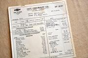 9th Jan 2011 - New Car Invoice