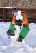 2nd Feb 2020 - Hugging the snowman