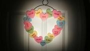 2nd Feb 2020 - Conversation Heart Wreath