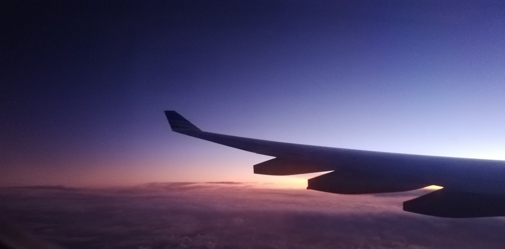 Sunrise by the wing by julianneovie
