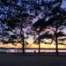 Sunset along  the Ashley River in Charleston