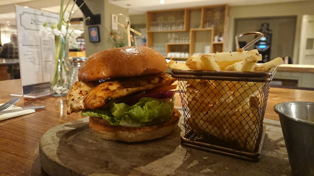 Cajun chicken burger by peadar