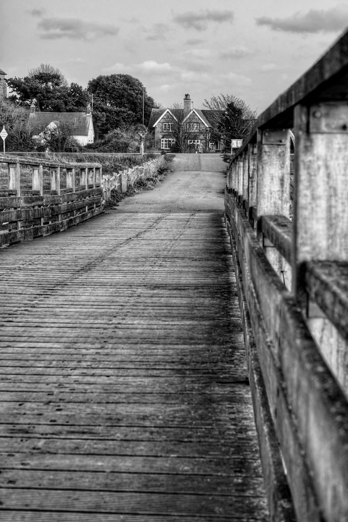 Shoreham Toll Bridge B&W by 4rky