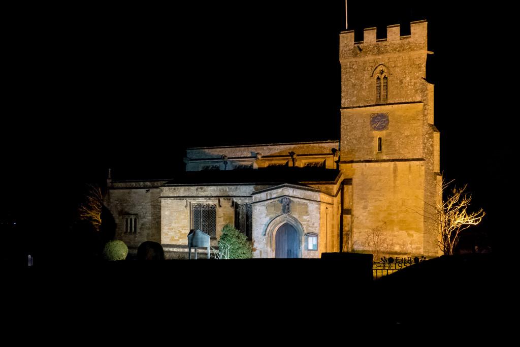 St Lawrence Church by night by peadar