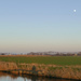 moon above Akersloot, Holland
