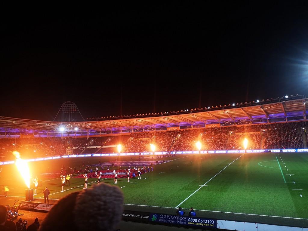 Pre Derby game light show  by plainjaneandnononsense