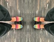 9th Feb 2020 - My rainbow sneakers.