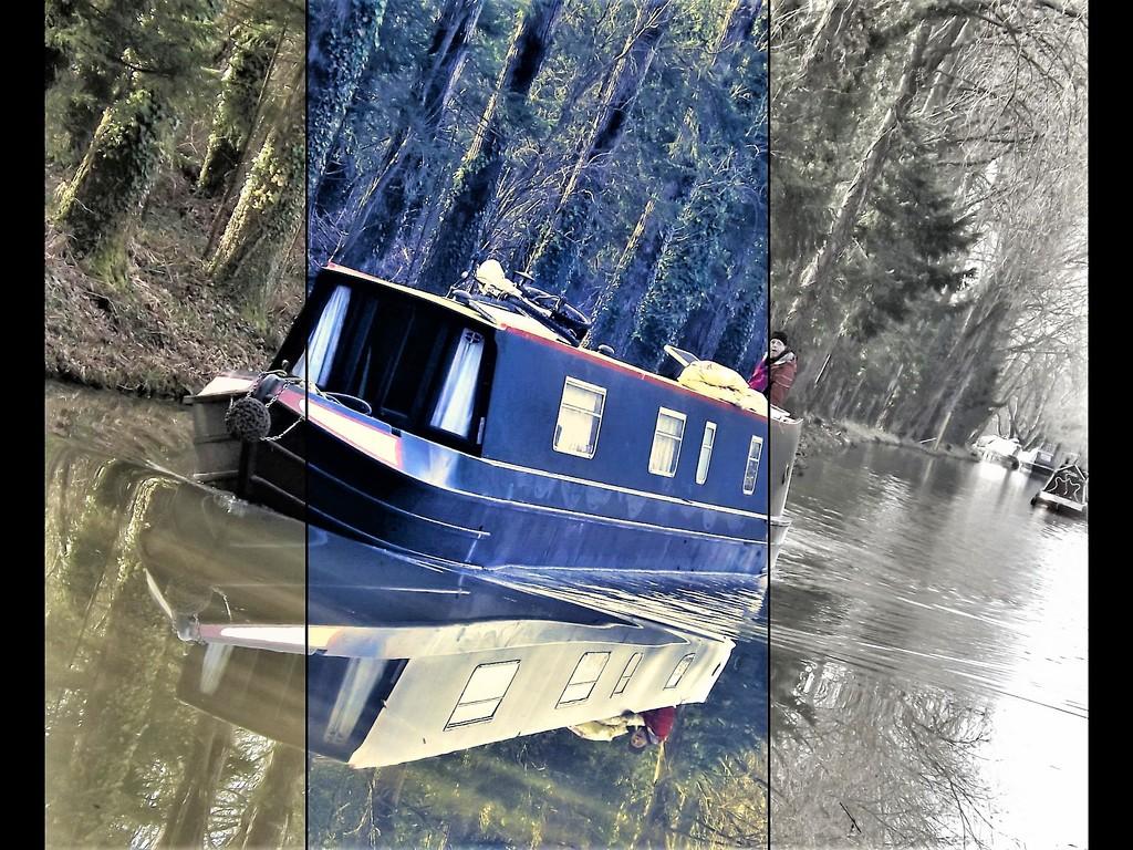Barge triple pane view. by ajisaac