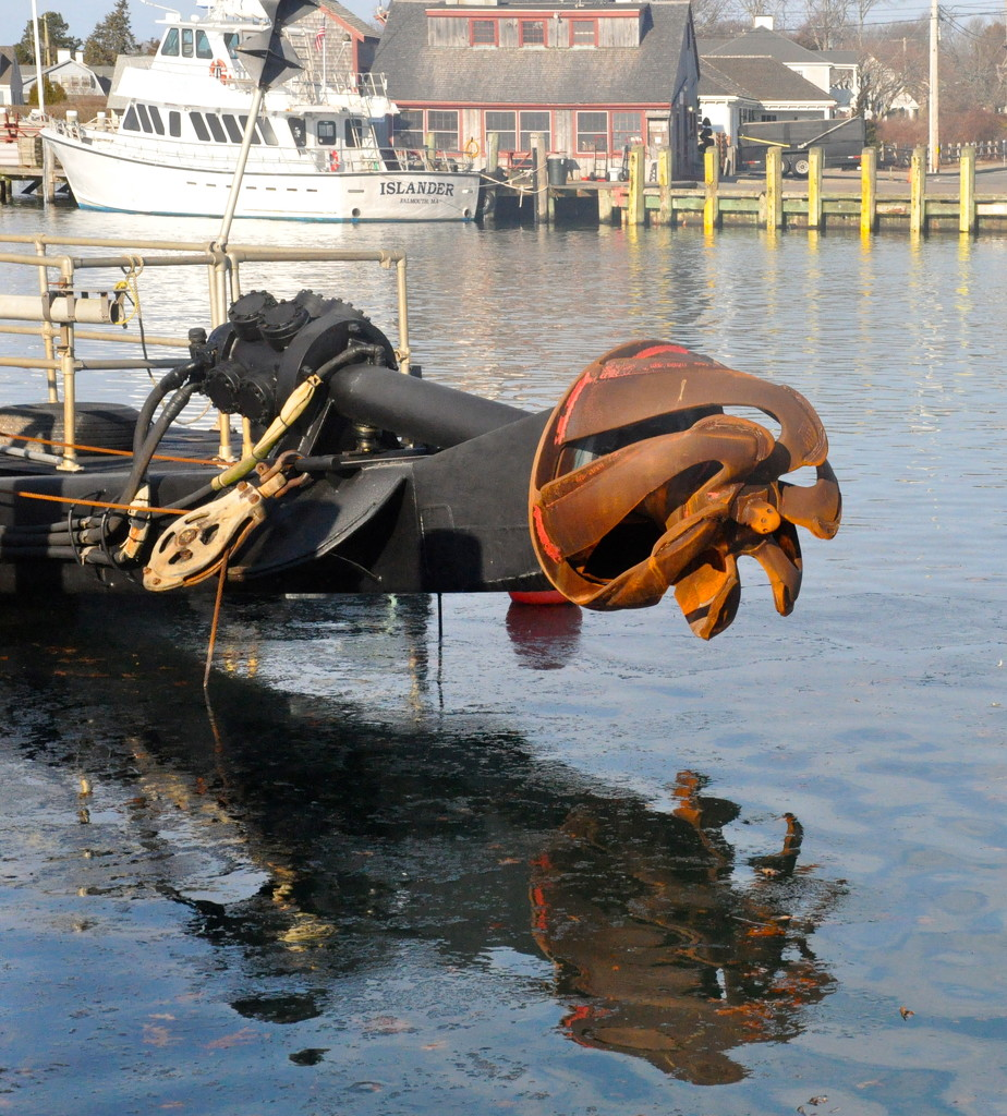 Dredge in Falmouth Harbor, MA by sailingmusic