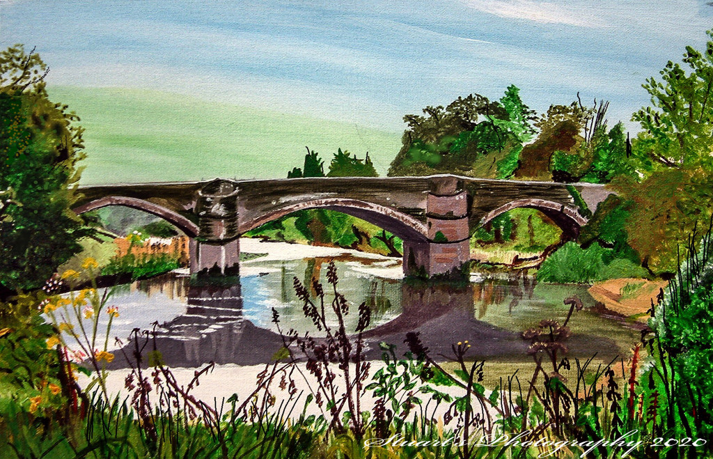 Stretching the river (painting) by stuart46