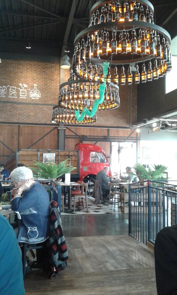 Beer bottle chandelier  by pennystot