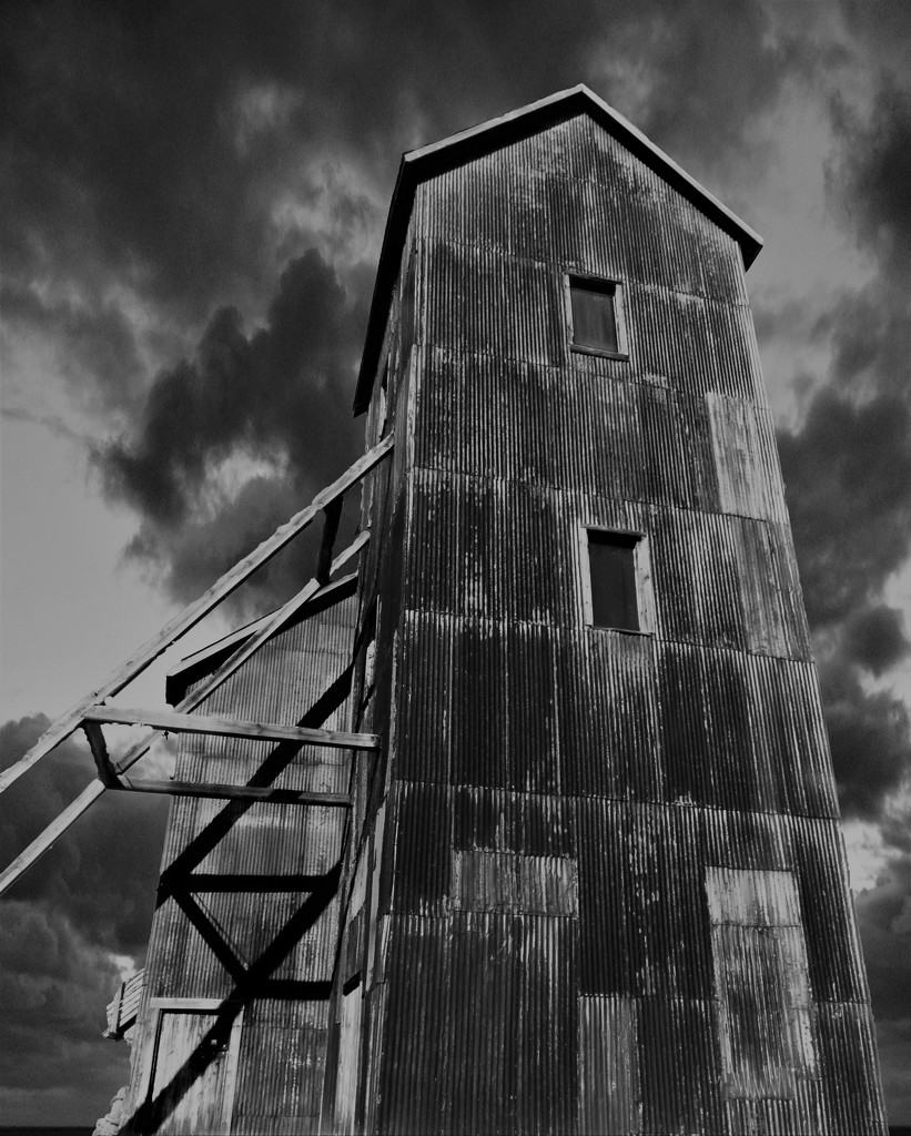 The Right of Way - Headframe in Cobalt by radiogirl