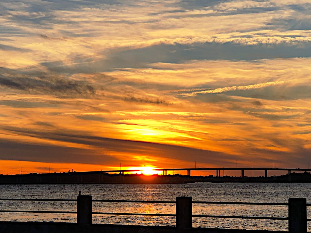 Sunset over the Ashley River by congaree