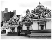 12th Feb 2020 - The ornate temples in Singapore against the modern skyscrapers