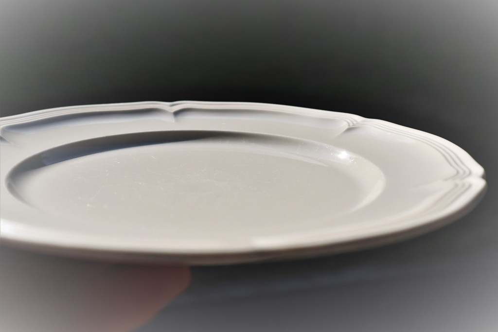 An empty plate but for its shadow by sandradavies