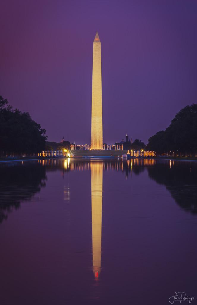 Washington Monument Twilight by jgpittenger