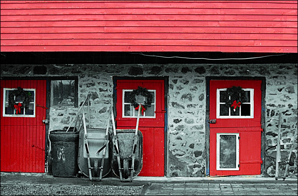 Architecture 5 (Flash of Red) by olivetreeann