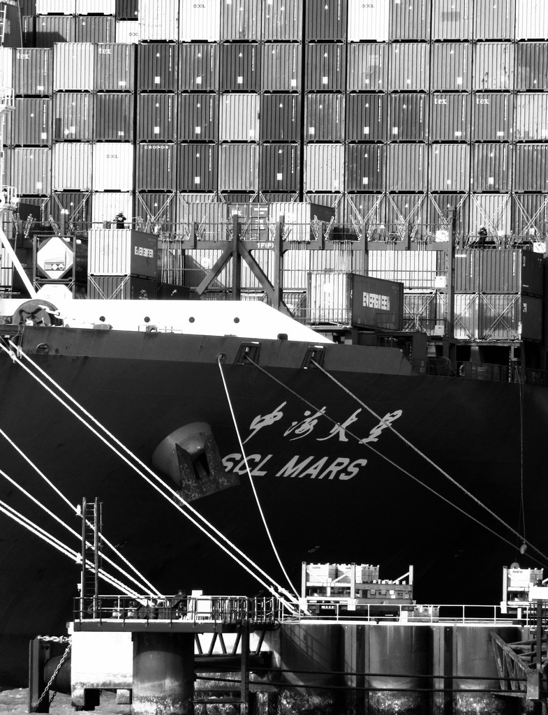 Container Ship, Felixstowe by helly31