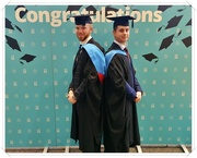 16th Feb 2020 - Ethan And Danny On Graduation Day (Rosie's Photo)