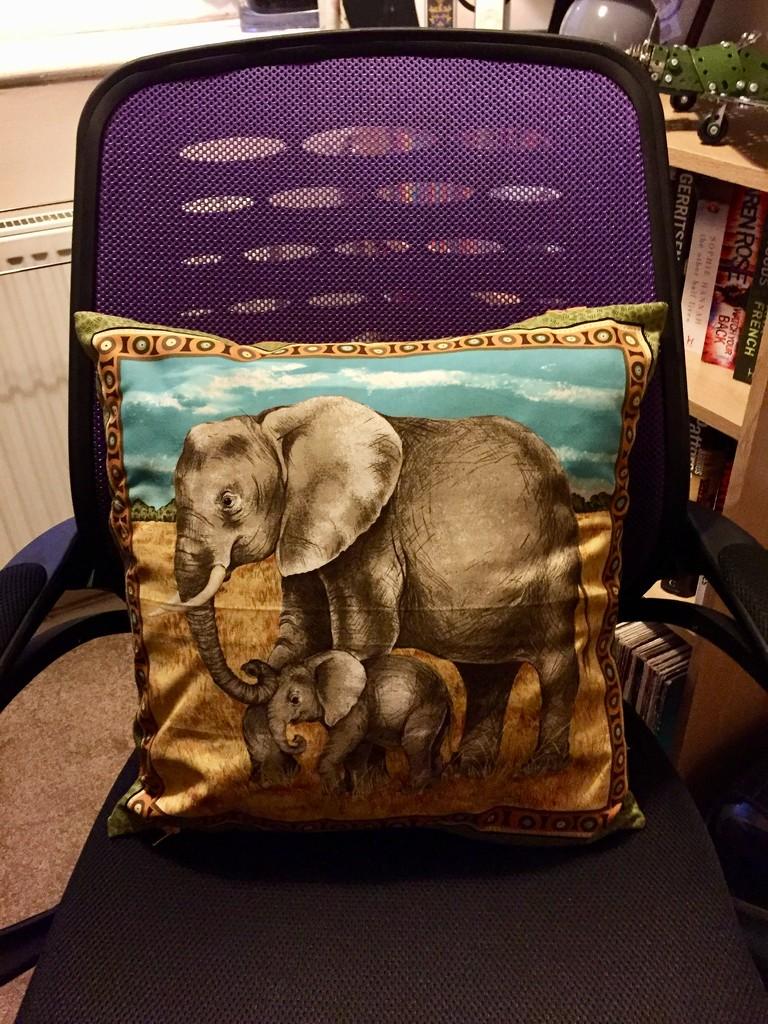 Elephant Cushion by gillian1912