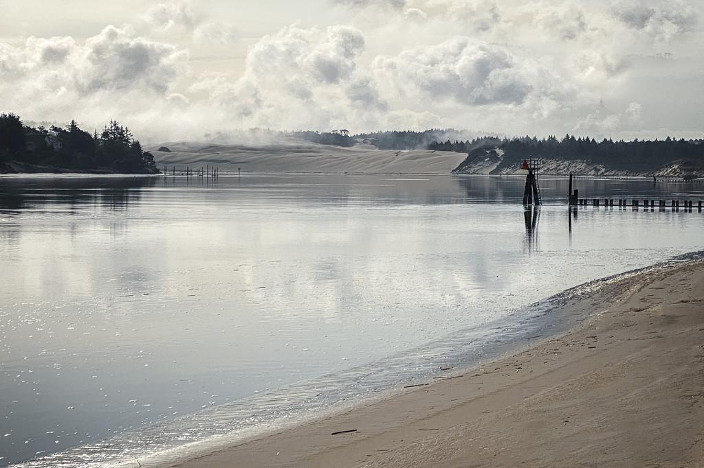 Fog Rising Over the Dunes  by jgpittenger