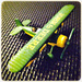 Biplane - John Deere toy