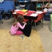 Earning brownie points by sewing a hole in her teacher's pillow