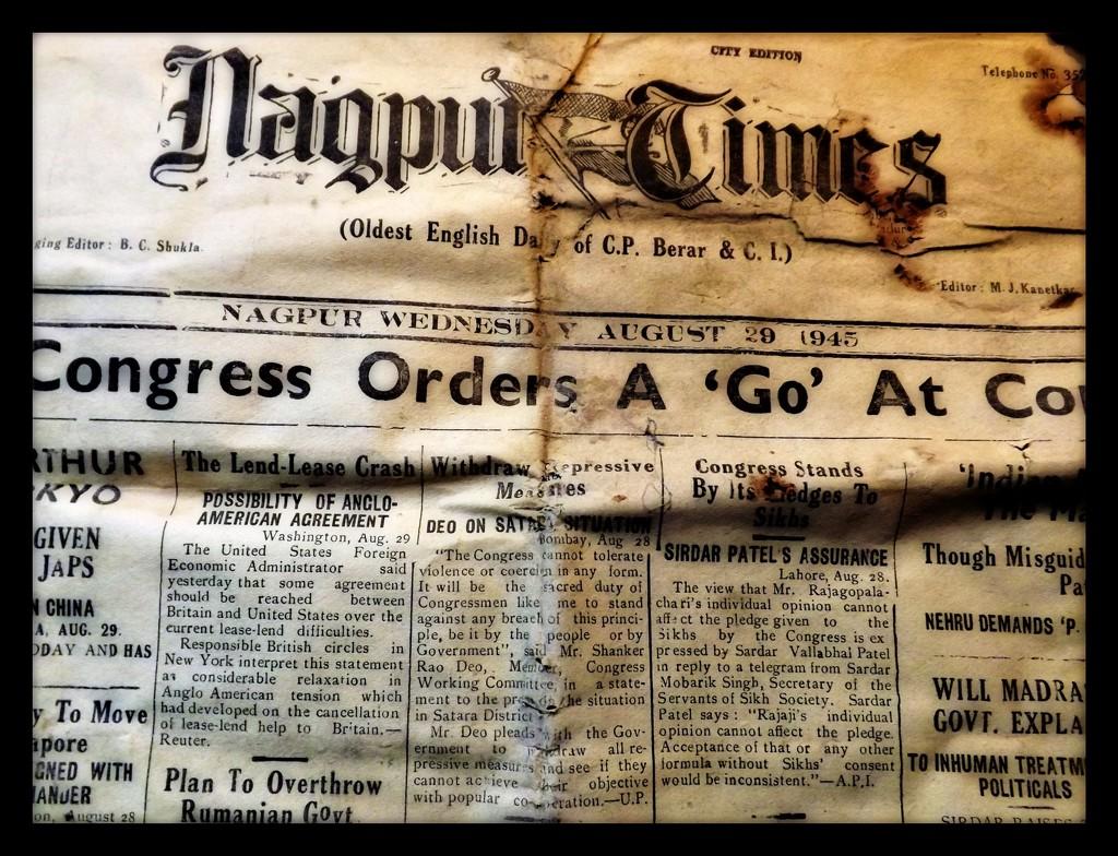 Nagpur Times 1945 by ajisaac