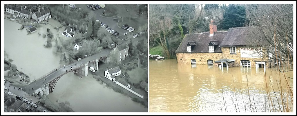 The flooding in Ironbridge and Jackfield  by beryl