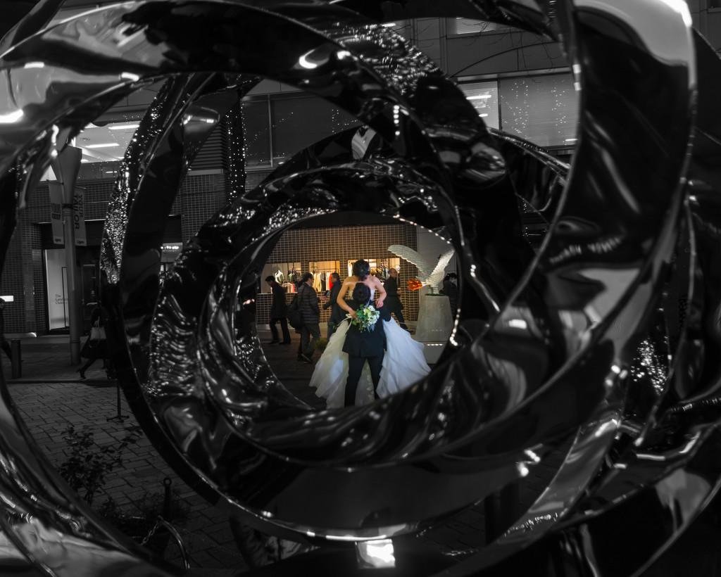 Street wedding by tokyobogue