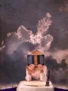 21st Feb 2020 - head. in a book. in the clouds