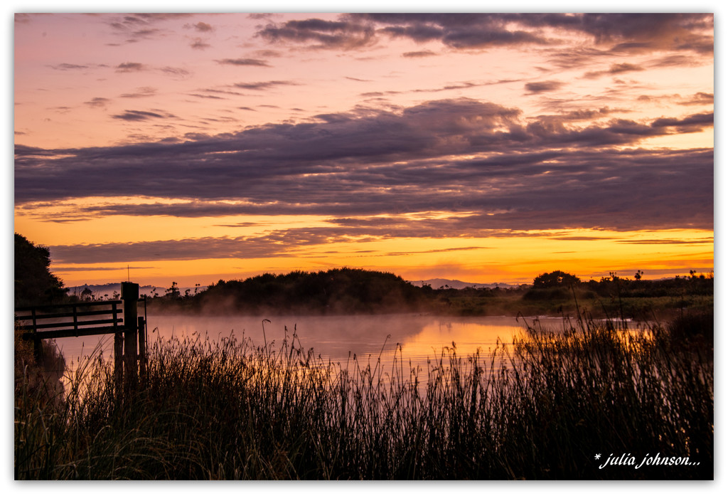 Waikato River Sunrise ... Looking the other way ... by julzmaioro