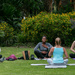 Joga in the park