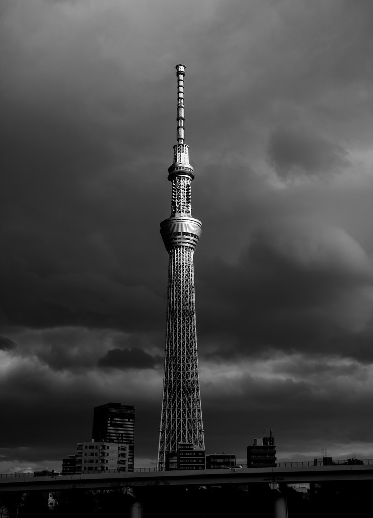 Stormy skies over Skytree by tokyobogue