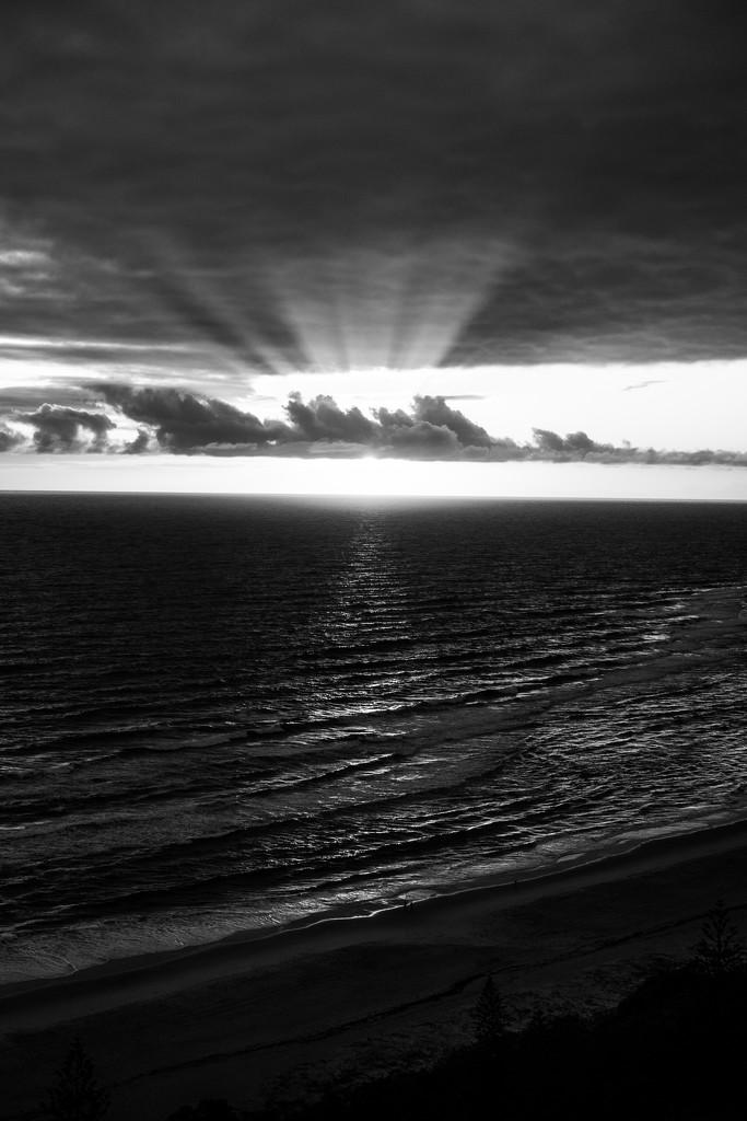 Sunrise B&W by sugarmuser