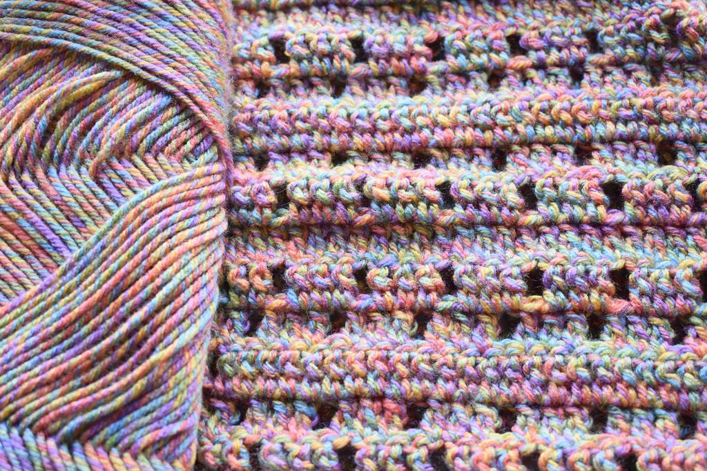 Pretty yarn makes a pretty scarf by homeschoolmom