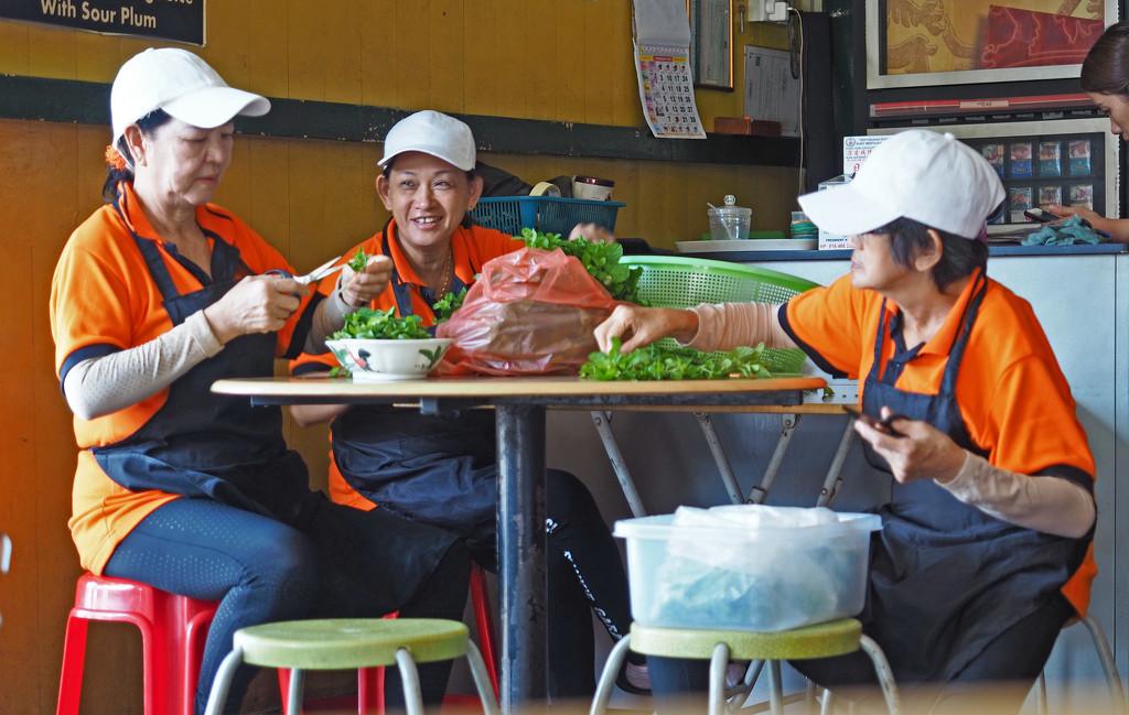 Ladies Prepare Vegetables by ianjb21