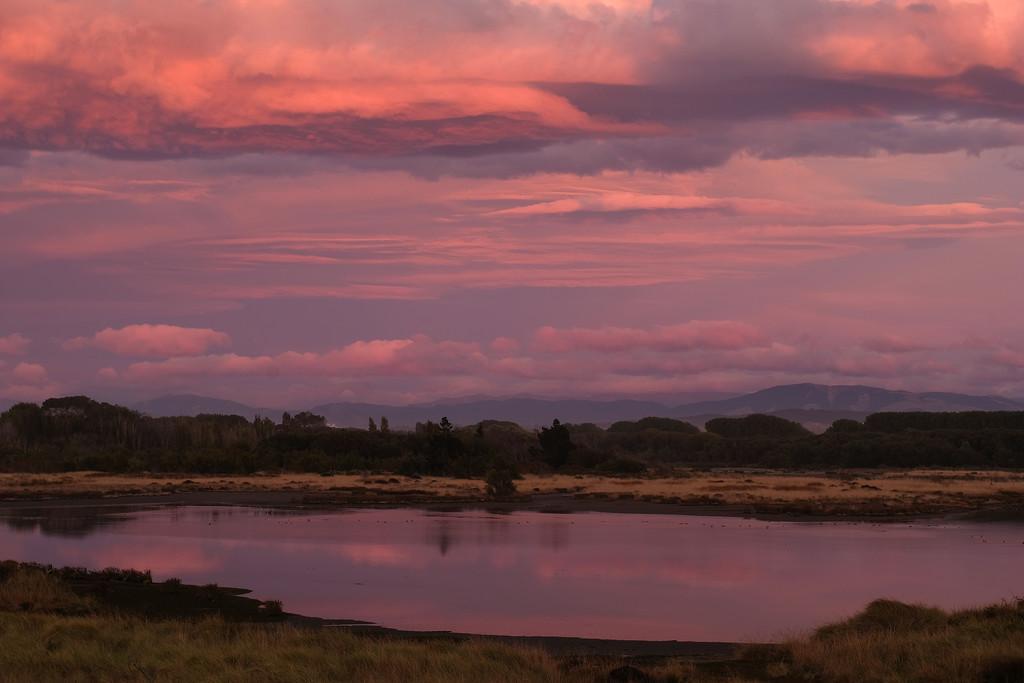 Pale pink sunrise over the Ashley River estuary by maureenpp