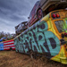 School Bus Graveyard by kvphoto