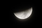 29th Feb 2020 - Hazy half moon