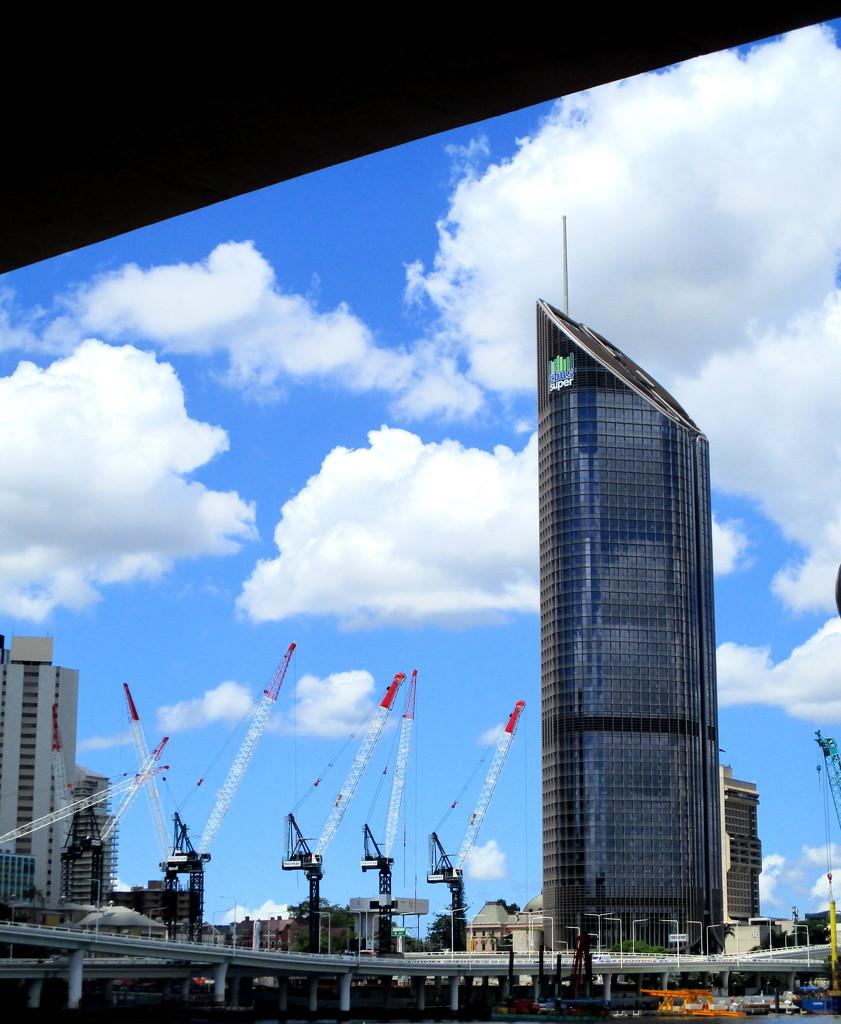 Progressive skyline of Brisbane by 777margo