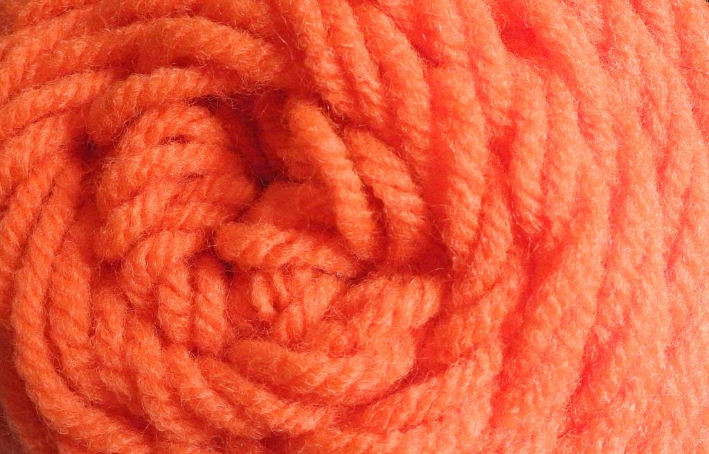 Orange Yarn  by homeschoolmom