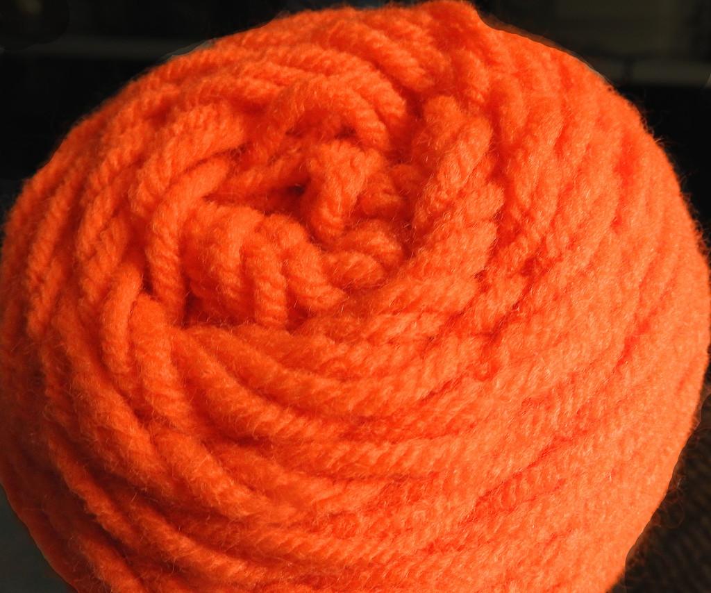Orange Yarn 2 by homeschoolmom