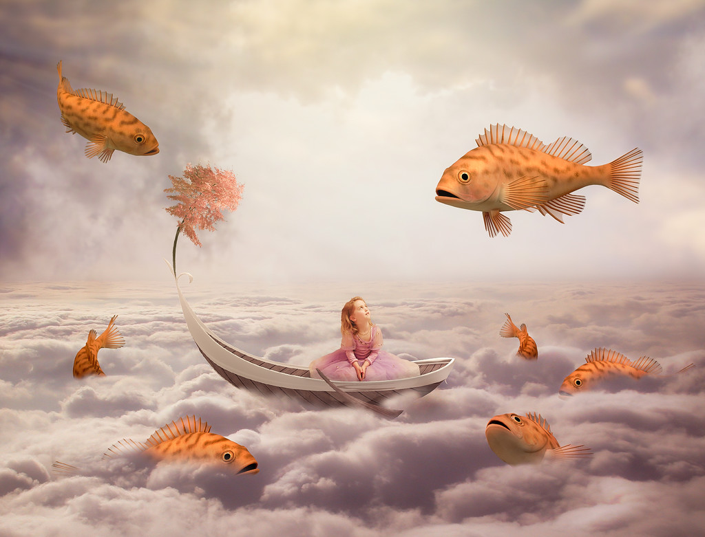 Playing With The Fishes by rosiekerr