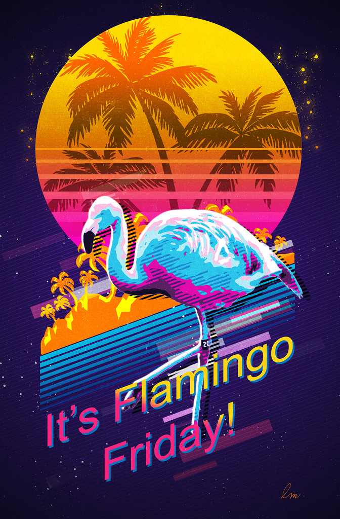 A Flaming Friday Flamingo! by Weezilou